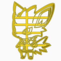 jolteonsubir1.jpg Download STL file Jolteon Pokemon x Animal Crossing Cookie Cutter Anime Chibi • 3D printing template, Negaren