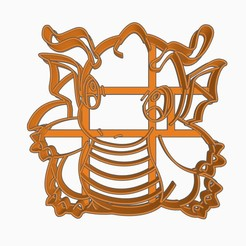 Download 3D printing files Dragonite Cookie Cutter Pokemon Anime Chibi, Negaren