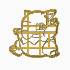 Drowzeesubir1.jpg Descargar archivo STL Drowzee Cookie Cutter Pokemon Anime Chibi  • Modelo para imprimir en 3D, Negaren