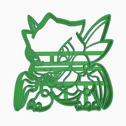 syth1.jpg Download STL file Scyther Cookie Cutter Pokemon Anime Chibi • Design to 3D print, Negaren