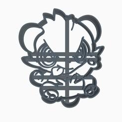 pango1.jpg Download STL file Pancham Cookie Cutter Pokemon Anime Chibi • 3D printing design, Negaren