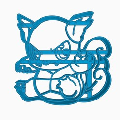 Download 3D printer designs Wartortle Pokemon Anime Chibi Cookie Cutter, Negaren