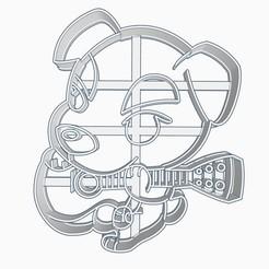 Download STL file Animal Crossing Totakeke K.K. Slider Chibi Cookie Cutter • 3D printing design, Negaren