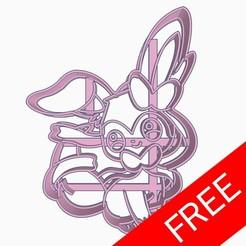 gratis.jpg Download free STL file Sylveon Pokemon Cookie Cutter Chibi Anime Free • 3D printer model, Negaren