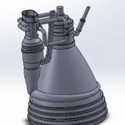 Download 3D printer templates F1 Rocket Engine, davlasvegas