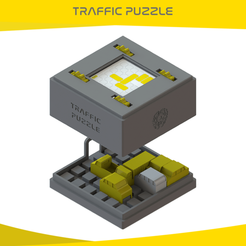 Download 3D printer templates TRAFFIC PUZZLE, onlojik