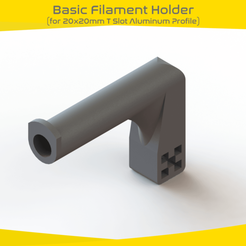 BFH (1).fw.png Download free STL file Basic Filament Holder  • 3D print model, onlojik