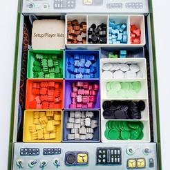 20200825_173930.jpg Download STL file Power Grid Board Game Insert Organizer • 3D print object, TidyGamer