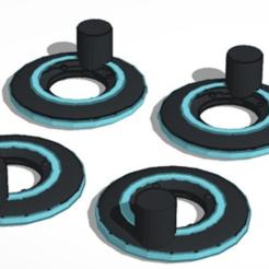 Télécharger fichier STL gratuit Disques d'identification Tron 5 mm - Légendes Transformateurs de classe à l'échelle • Modèle à imprimer en 3D, TheSledgeHammer