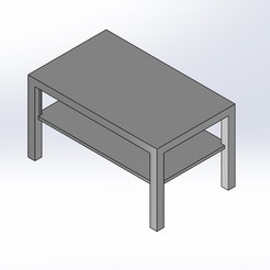 1.jpg Download free STL file 1.6 SCALE IKEA LACK STYLE LONG COFFEE TABLE FOR BARBIE DOLL (DOLL HOUSE) • 3D printer design, wamonuop