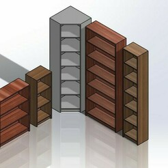 Screenshot_5.jpg Download STL file 1.6 SCALE IKEA BILLY STYLE BOOKSHELF SET • Design to 3D print, wamonuop