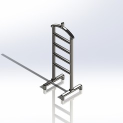 1.jpg Download STL file 1:6 Scale Valet Stand for Barbie Doll (Doll house) • 3D printer design, wamonuop