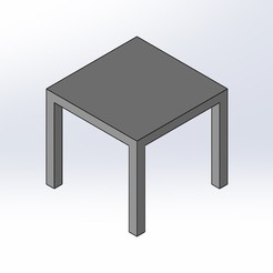 1.jpg Download free STL file 1.6 SCALE IKEA LACK STYLE COFFEE TABLE FOR BARBIE DOLL (DOLL HOUSE) • 3D print template, wamonuop