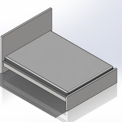 1.jpg Download STL file 1:6 Scale Ikea Malm Style Queen Size Bed for Barbie Doll (Doll House Furniture) • 3D print template, wamonuop