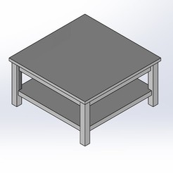 1.jpg Download STL file 1.6 SCALE IKEA HEMNEs STYLE COFFEE TABLE FOR BARBIE DOLL (DOLL HOUSE) • 3D printing design, wamonuop