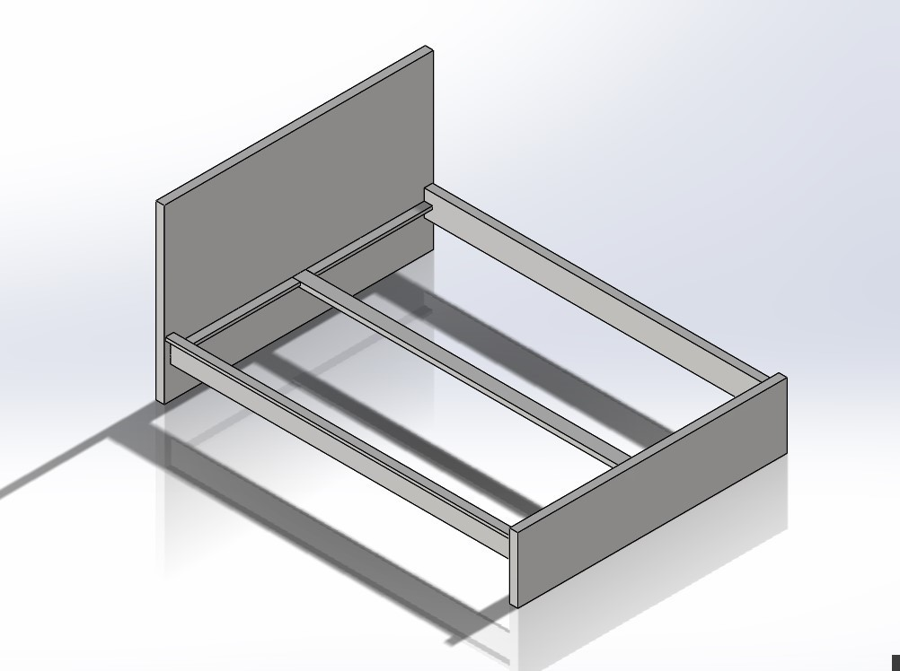 2.jpg Download STL file 1:6 Scale Ikea Malm Style Queen Size Bed for Barbie Doll (Doll House Furniture) • 3D print template, wamonuop