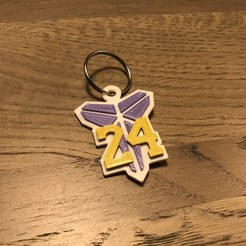 IMG_1879.jpg Download free STL file Kobe Bryant Keychain • 3D print design, the3dsmith