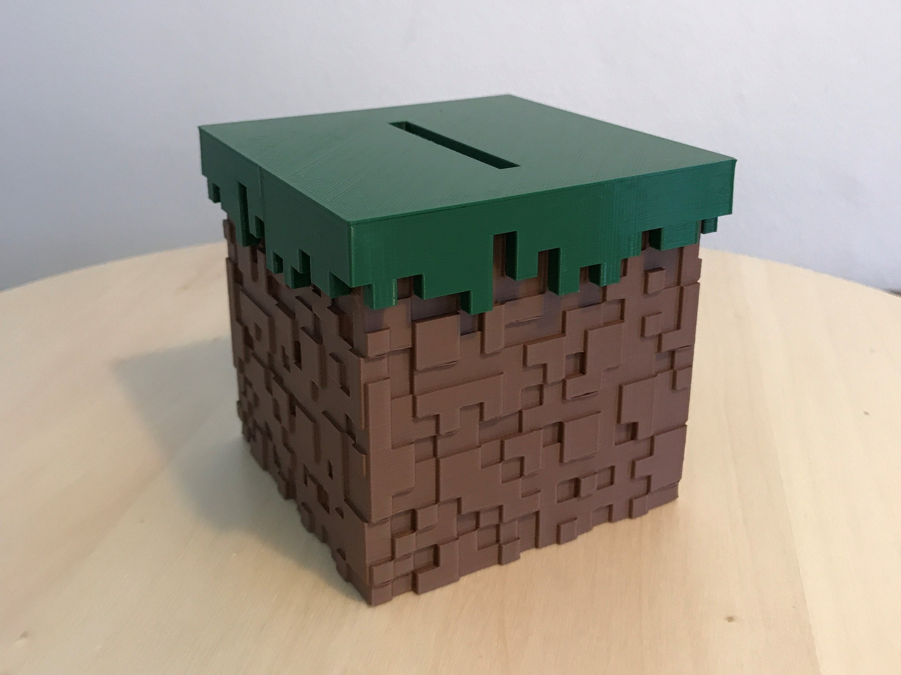 00.jpg Download free STL file Minecraft Grass Block Money Bank • 3D printing template, the3dsmith