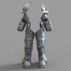 X01.29.jpg Download STL file Fallout X-01 Power Armor Legs and Arms Wearable • 3D printing design, 3dprintuniverse