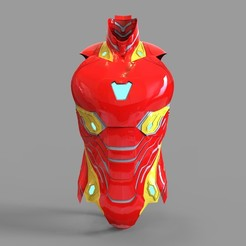 _untitled.2479 — копия (2).jpg Download STL file Iron Man Mark 50 Chest Part Wearable • 3D printable template, 3dprintuniverse