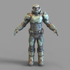 Download 3D printing designs Doom 2016 Doomguy Full Armor Wearable, 3dprintuniverse