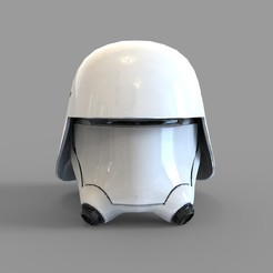 Download 3D printer designs Star Wars First Order Snow Trooper Wearable Helmet, 3dprintuniverse