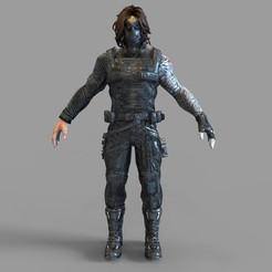 _untitled.1332 — копия (8).jpg Download OBJ file Winter Soldier Movie Masked Full Armor Wearable • 3D print object, 3dprintuniverse