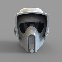 Download 3D printer designs Star Wars Imperial Scout Trooper Wearable Helmet, 3dprintuniverse