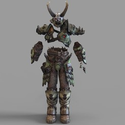 _marauder.2118 — копия (7).jpg Download STL file Doom Eternal Marauder Full Armor Wearable • 3D print template, 3dprintuniverse