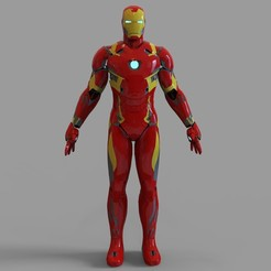 _mk46.2061 — копия (8).jpg Download STL file Iron Man Mark 46 Full Armor Wearable • Model to 3D print, 3dprintuniverse