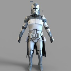 Download 3D print files Star Wars Commander Wolffe Wearable Armor, 3dprintuniverse