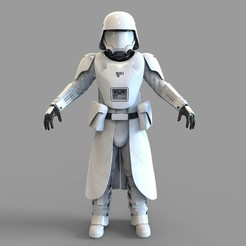 Download 3D printer templates Star Wars First Order Snow Trooper Wearable Armor, 3dprintuniverse