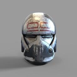 CG BAD BATCH WRECKER HLM.2050.jpg Download STL file Star Wars Wrecker Bad Batch 99 Squad Wearable Helmet 3D print model • 3D printing model, 3dprintuniverse
