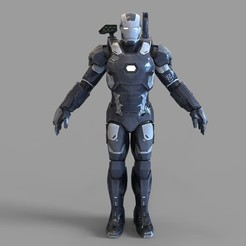 3.1401.jpg Download STL file  War Machine Mark 3 Full Armor Wearable • 3D print model, 3dprintuniverse