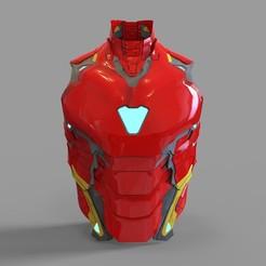 _iron man mk 85.2041 — копия (9).jpg Download STL file Iron Man Mark 85 Chest Part Wearable • 3D printer model, 3dprintuniverse