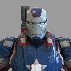 untitled.2165.jpg Download STL file Iron Man Iron Patriot Helmet Wearable • Design to 3D print, 3dprintuniverse