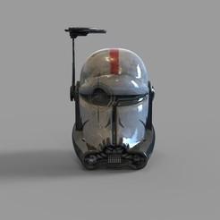 CG BAD BATCH CROSSHAIR HLM.2042.jpg Download STL file Star Wars Crosshair Bad Batch 99 Squad Wearable Helmet 3D print model • 3D printer model, 3dprintuniverse