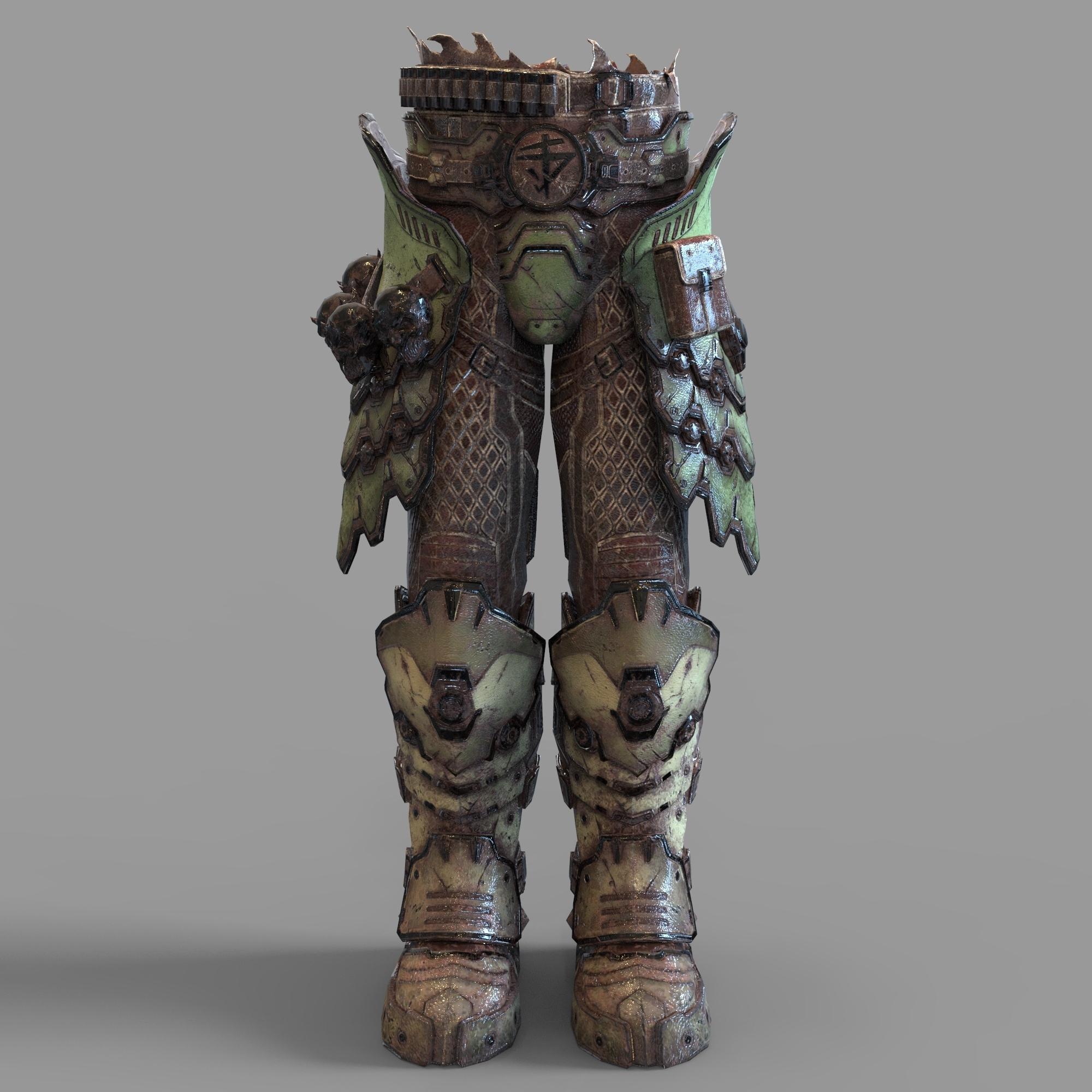 Download 3d Printer Designs Doom Eternal Marauder Skirt With Boots Part Wearable Cults