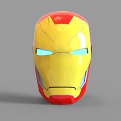 _mk46.2065 — копия (8).jpg Download STL file Iron Man Mark 46 Helmet Wearable • 3D printable model, 3dprintuniverse