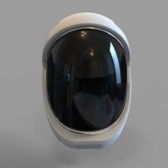 Download STL file Space X Dragon 2 Crew Helmet Wearable • 3D printer object, 3dprintuniverse