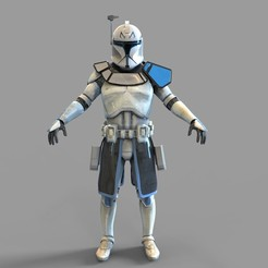 Download 3D printing templates Star Wars Captain Rex Phase 1 Wearable Armor, 3dprintuniverse