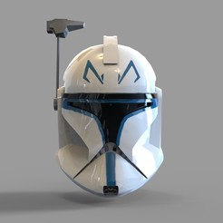 Download 3D print files Star Wars Captain Rex Phase 1 Wearable Helmet, 3dprintuniverse
