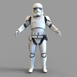 Download 3D printer designs Star Wars First Order Stromtrooper Wearable Armor, 3dprintuniverse