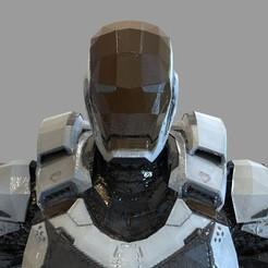 untitled.2155.jpg Download OBJ file Iron Man Mark 39 Helmet Wearable • 3D print design, 3dprintuniverse