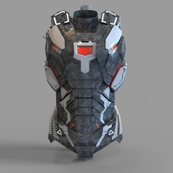 _untitled.2080 — копия (10).jpg Download STL file Iron Man War Machine Mark 4 Chest Part Wearable • Object to 3D print, 3dprintuniverse
