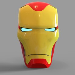 _untitled.2061 — копия (9).jpg Download STL file Iron Man Mark 50 Helmet Wearable • 3D printable object, 3dprintuniverse
