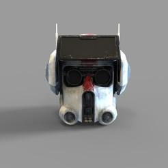 CG BAD BATCH TECH HLM.2035.jpg Download STL file Star Wars Tech Bad Batch 99 Squad Wearable Helmet 3D print model • 3D printing design, 3dprintuniverse