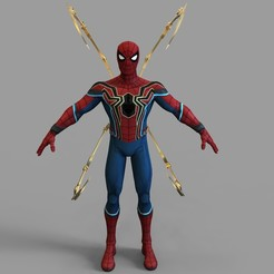 untitled.1006.jpg Download STL file Iron Spider Full Armor Wearable • 3D print template, 3dprintuniverse
