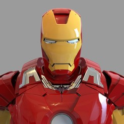 _untitled.2150 — копия (6).jpg Download STL file Iron Man Mark 7 Helmet Wearable • 3D printing template, 3dprintuniverse