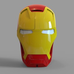 untitled.2204.jpg Download STL file Iron Man Mark 42 Helmet Wearable • Object to 3D print, 3dprintuniverse